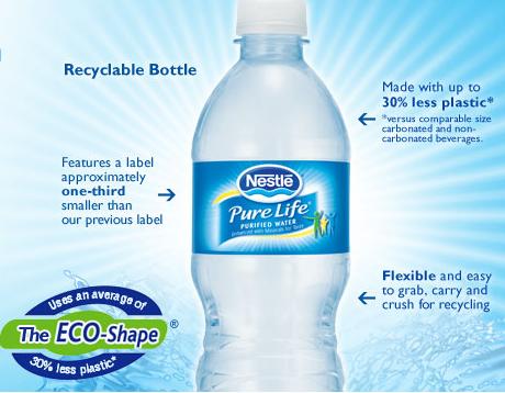 greenwashing nestle eau pure life